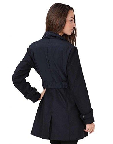 ING - Manteau trench, cintré - Femme - Bleu marine - La Mode Boutique
